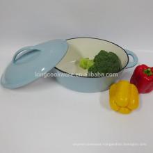 cast iron enamel casserole with lid/ cast iron enamel cookware KBL28 with LIGHT BLUE