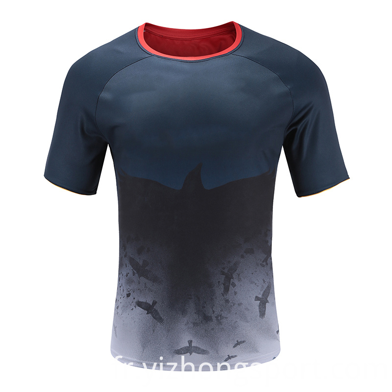 Mens Rugby Wear T Shirt