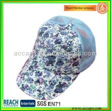 Floral Sequin Mesh Cap TC-2102