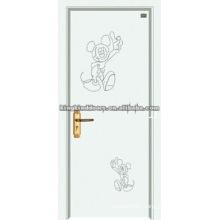Beautiful Finish MDF DOOR with PVC JKD-8120 for Bathroom Interior door