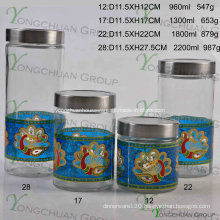 Nice Golden Decal Container New Design