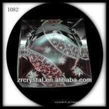 Cinzeiro de Cristal Vermelho K9