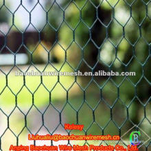 Green pvc coated chicken wire mesh fence