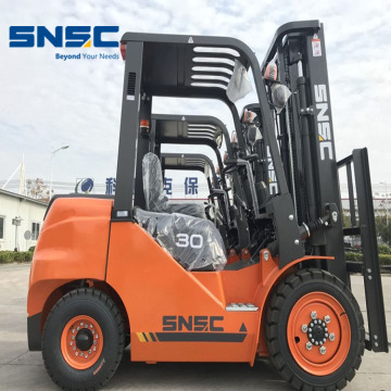 Counter Balance Diesel Didukung 3Tons Forklift