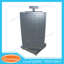 4 Seiten Zähler Metall Drehteller Stand Pegboard Schwenk Display