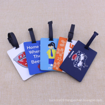 100% Eco-Friendly Factory Direct Wholesale Silicone/PVC Luggage Tag