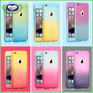 Full Body 360 Grad schützen Telefon Fall Gladient Farbe Telefon Fall für iPhone