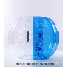 Deporte loco! ! Venta al por mayor caliente de la venta media bola inflable inflable de la burbuja del fútbol del TPU del color, bola loopy