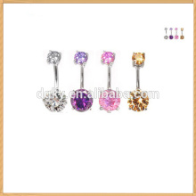 New arrival crystal adjustable navel ring