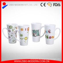China-Hersteller-kundenspezifische Firmenzeichen-weiße Porzellan-Schalen / keramische Becher