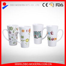 China Manufacturer Custom Logo White Porcelain Cups/Ceramic Mugs