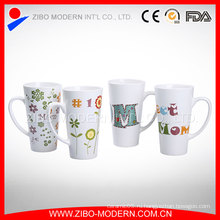 Китай производитель Пользовательские логотипы белые фарфоровые чашки / керамические кружки