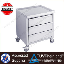 Customized Restaurant 3 Drawers With Wheels Stainless Steel Meat Cart