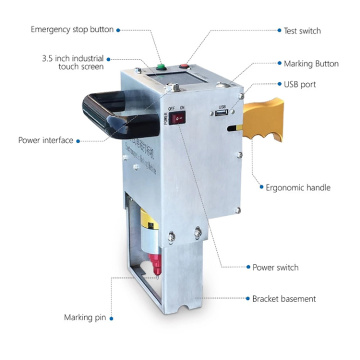 Jaminan Kualiti Elektrik Portable VIN Dot Pin Marking Machine