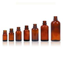 Frasco de vidrio ámbar, con acabado de DIN18mm, aceite esencial y el E-líquido