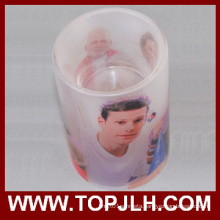 High Quality Photo Blank Sublimation Glass Candle Holder