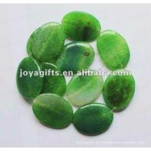 40 * 30 * 8MM sueltan los granos ovales verdes de la piedra de la ágata