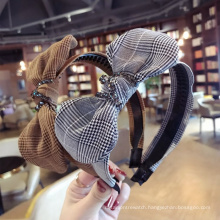 Designer Stylish Hair Accessories hairband Crystal Hair Band Colorful Knitted Bunny Ears Headband for women