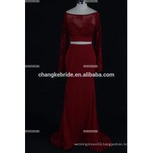 2017 Gorgeous lace Mermaid Long chiffon fabric Evening Dress party sexy prom dress