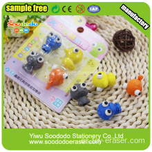 Fancy ojos grandes Shaped Eraser