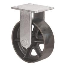 Heavy Duty Caster Series - 8in. Rigid Cast Iron Wheel