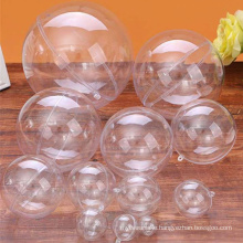 2.5/3/4/5/6/7/8/9/10/12/14/16/20cm Transparent Ball Open Plastic Clear Bauble Ornament Christmas Party Hanging Pendant Gift