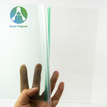 OCAN high light transmittance clear polycarbonate solid sheet pc sheet for UV roller/curtain coating