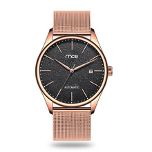 Special small MOQ men steel mesh automatic watch