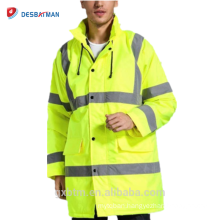 Factory Price Custom High Visibility Refelctive Work Parka Winter Construction Safety Jacket Workwear