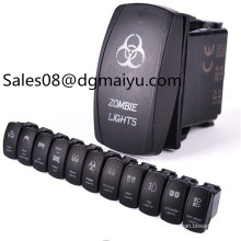 Camper and Ship Refitting Switch / Fog Lamp of The Headlight Conversion Switch / Boat Shaped Switch Double Lamp Rocker Switch