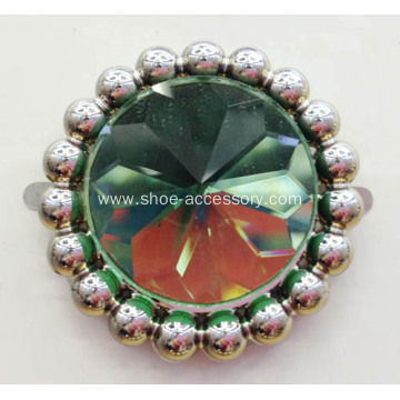 An Enchanting Bridal Accessory with Sparkling Green Stones Trimming
