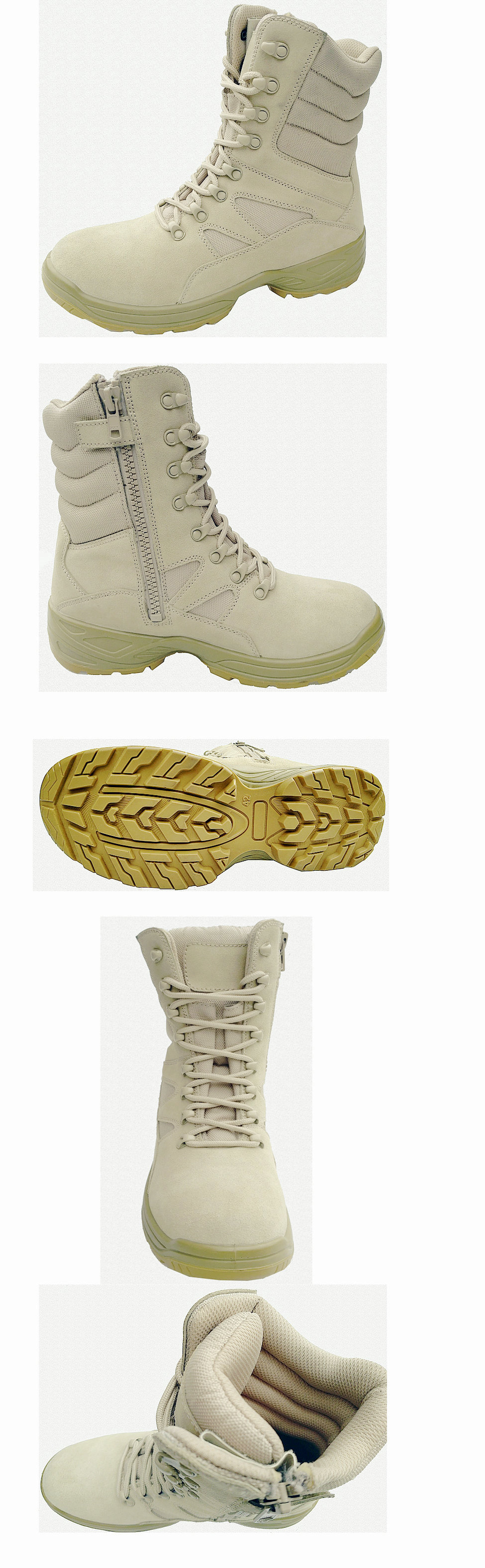 High Ankle Nubuck Safety Boots