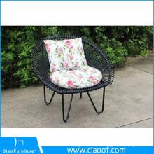 Cadeira de vime redonda do jardim Cadeira de pavão original do projeto