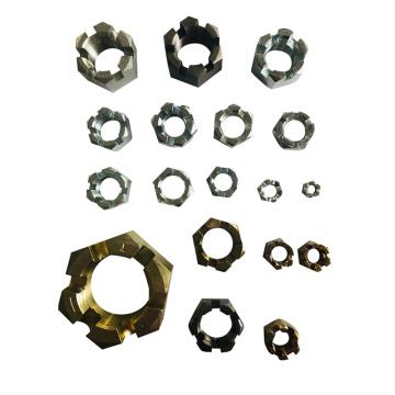 Custom Hardware fasteners carbon steel zinc galvanized hex slotted castle nut