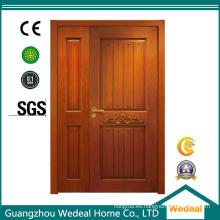 Puerta interior doble sólida de madera / PVC / WPC para el hotel