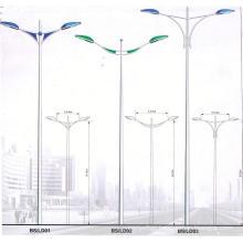 Plug-in Double Arm Galvanized Street Light Steel Pole