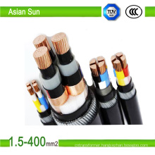 Copper/Aluminium Conductor XLPE Insulated PVC Sheathed Power Cable Factory