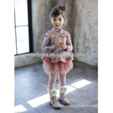 Nova Fabrica Kinder, die Blumenmädchen kleiden, kleidet Entwürfe Baby-Mädchen europäisches Art elegantes kleines Mädchen Winter Weihnachtskleid