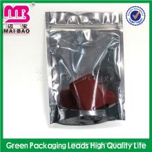 Bolsa plástica de la cremallera de la camiseta de la cremallera del LDPE del papel de aluminio Bolsas Ziplock impresas aduana de la bolsa