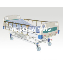(A-46) - Bewegliches Drei-Funktions-Handbuch Krankenhausbett mit ABS Bett Kopf