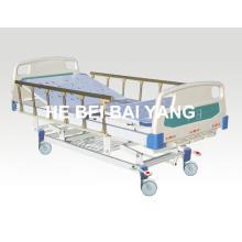 (A-46) - Cama de hospital manual de três funções com cabeça de cama ABS