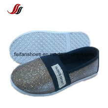 Breathable Plat Bandage Canvas Injections Shoes Children Casual Shoes with Blingbling