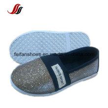Дышащий плат Бандаж холст инъекции обувь Детская Повседневная обувь с blingbling с