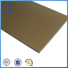 Exterior Wall Panels, Brush Aluminum Composite Panel for Building Construction