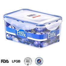 boîte de rangement de cuisine décorative en plastique avec couvercle