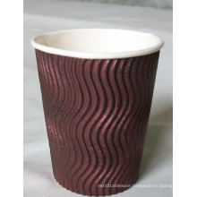 Hot Sale Corrugated Paper Coffee Cup with Lid