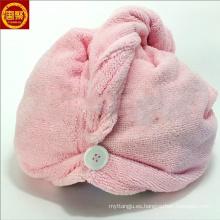 Toalla de toallas de turbante de toalla de secado de pelo de microfibra de la variedad creativa al por mayor