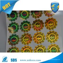 Anti-falsificación de papel holográfico Etiqueta Circular Etiqueta