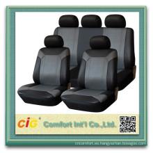 Precio barato personalizado impreso pu cuero asiento cubre