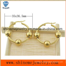 Shineme ювелирные изделия высокого качества из нержавеющей стали уха шпильки золото Плакировкой серьги (ERS6968)